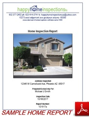 happy home inspectionz phoenix arizona home and termite inspections report